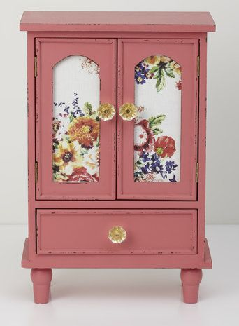 Coral Floral Armoire