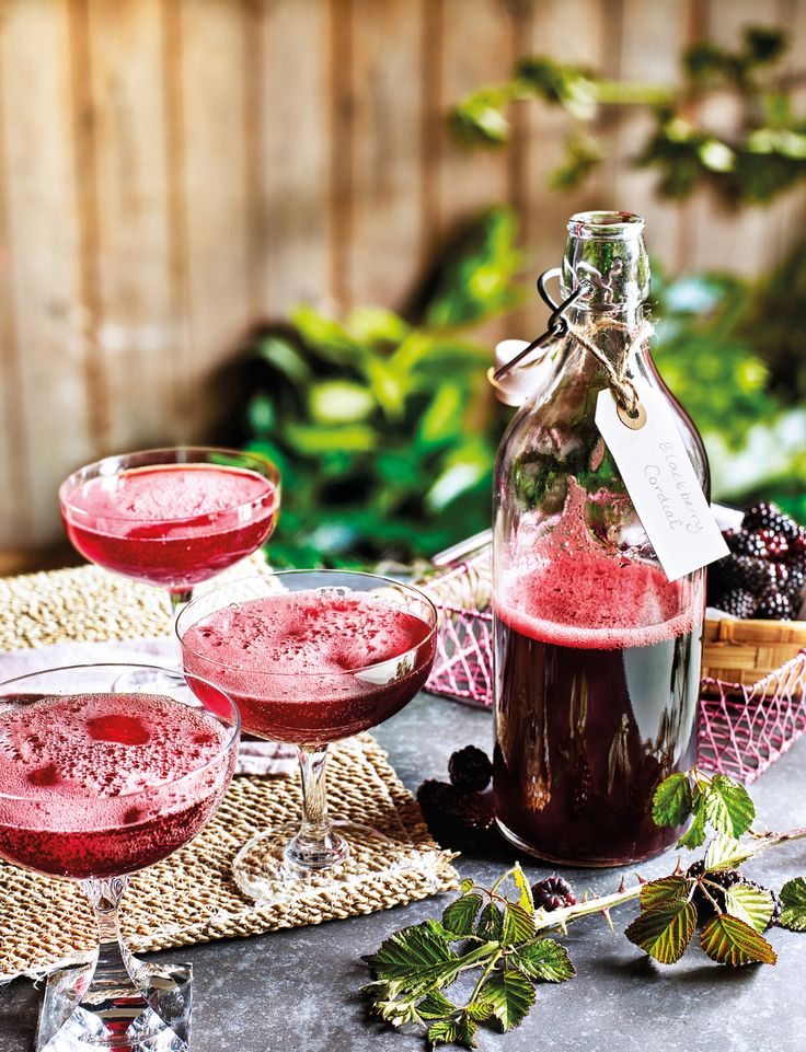 Check out our autumnal blackberry fizz cocktail recipe - just add bubbles...