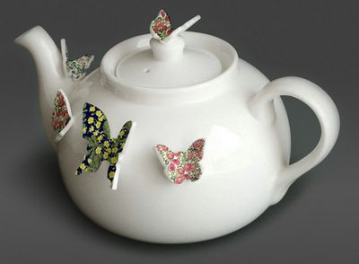 lovely butterfly teapot by polly george