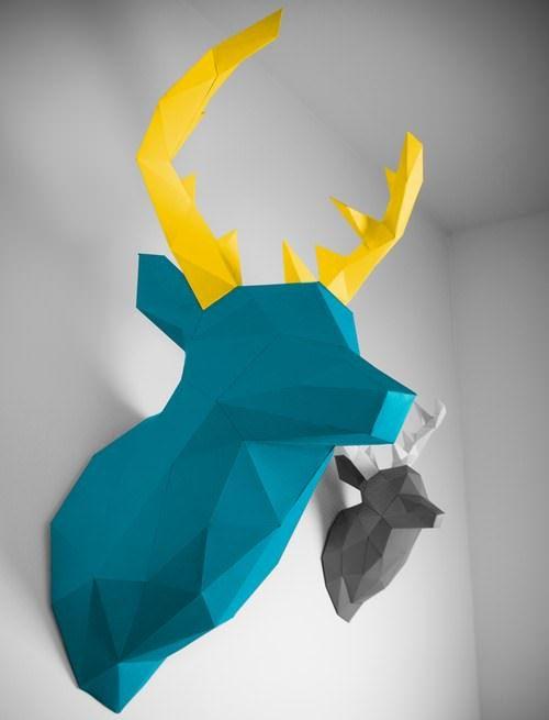 Die besten 25 tete de cerf origami ideen auf pinterest - Origami tete de cerf ...