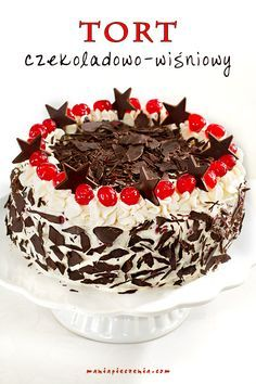 maniapieczenia: Tort czekoladowo-wiśniowy (również bez glutenu)