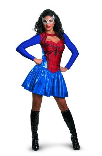 Sexy Superhero Costume for Women #Spiderman #Halloween #Costumes #Adults
