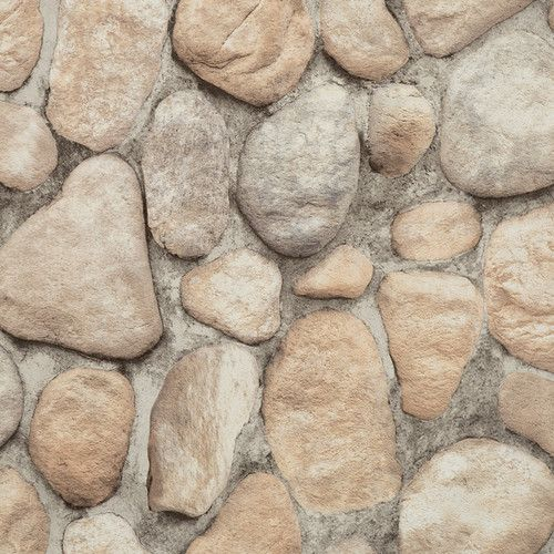 "York Wallcoverings Modern Rustic 33' x 20.8"" River Rock Wallpaper & Reviews   Wayfair"