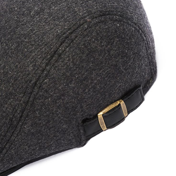 Mens Winter Warm Woolen Beret Hat Adjustable Casual Cabbie Hats