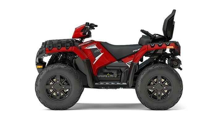 New 2017 Polaris Sportsman® Touring 850 SP ATVs For Sale in Florida. SUNSET RED The High-Output 850 Twin EFI engine with a SOHC cranks out 78 HP. It delivers outstanding acceleration off the line with incredible power to the ground. Add-in a clean fuel burn and smooth power delivery with dual-balanced shafts and you've got the power you're looking for to trail ride and hunt. Engine Braking System (EBS) and Active Descent Control (ADC) work together to provide four wheel braking for…