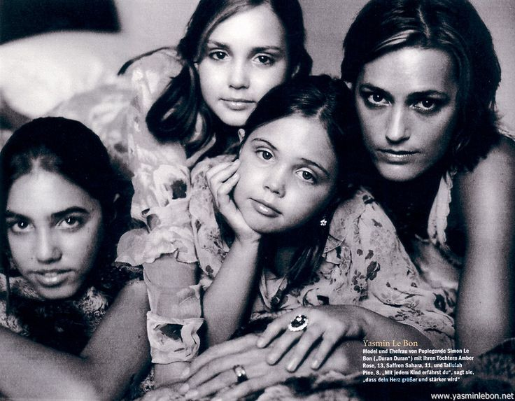 Tallulah Le Bon | with daughters Amber, Saffron, and Tallulah