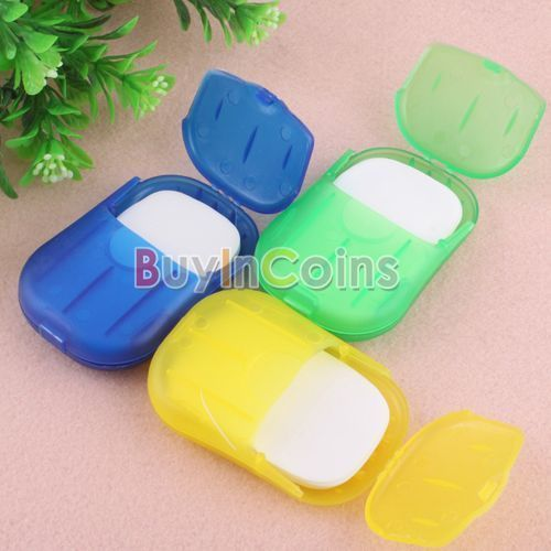 20 sheet Compact Travel Camp Portable Anti-Bacterial Clean Paper Soap Film HK #UnbrandedGeneric