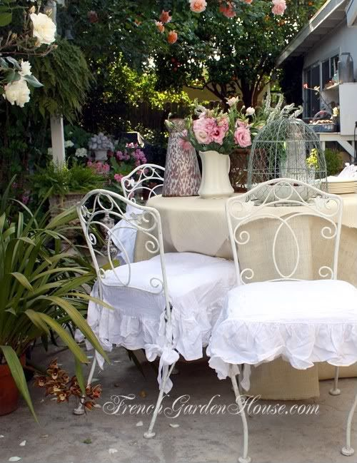 High Quality Organic Linen Shabby Ruffled Romance Chair Seat Co