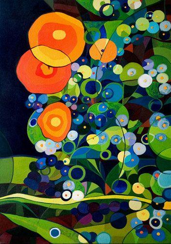 """ Charlotte Garden"", canvas 50x70 cm., acrylic"