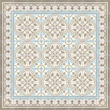 Des exemples de tapis de carreaux de ciment avec couleurs for Coller carrelage avec ciment
