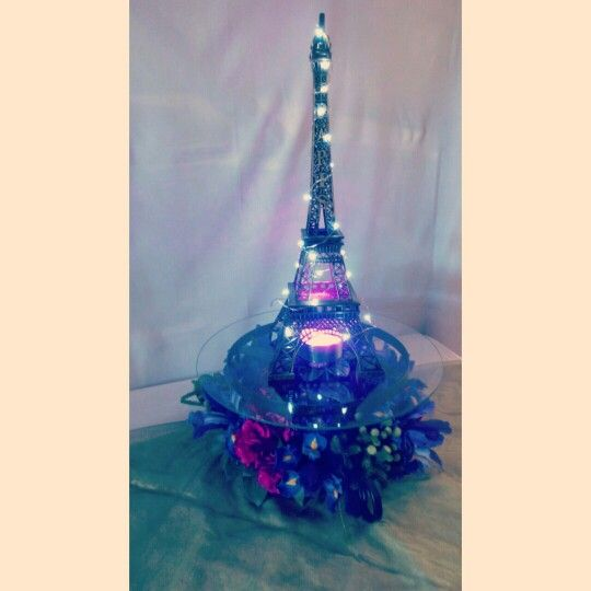 Brand new stock just arrived at ACH. Beautiful Eifel Tower centre pieces decorated with a fairy light, flowers and a LED light.