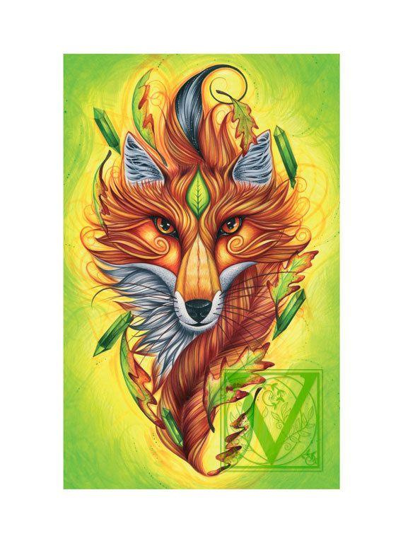 Hey, I found this really awesome Etsy listing at https://www.etsy.com/listing/221020672/fox-art-fox-magic-fox-symbolism-giclee