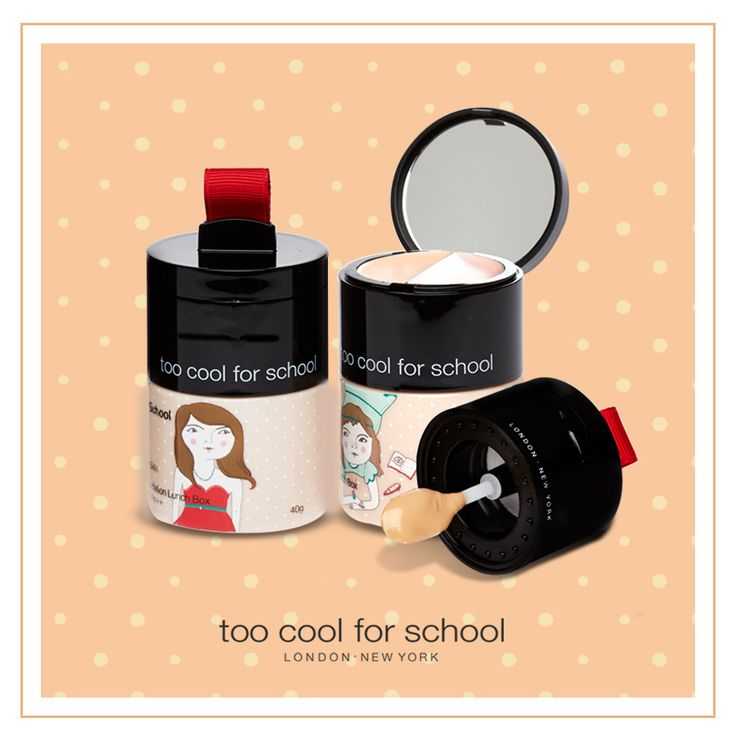 The TOO COOL FOR SCHOOL 📝🖍📚 After School BB Foundation Lunch box has a 4d BB Foundation, concealer with cream to powder finish, and a highlighter. - Everything you need to have great looking skin! #beautyjoint #koreancosmetics