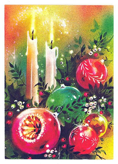 The crap Christmas Card in the pack of 10, i remember this exact one and we had baubels just like them.