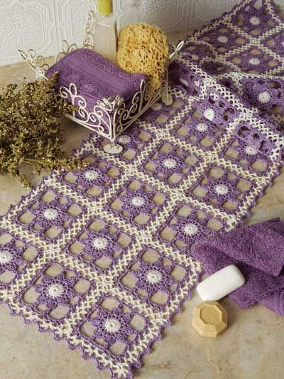 Join as you go motifs for table runner - for sale pattern - E-PatternsCentral