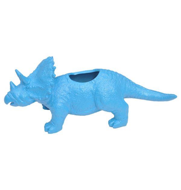 Triceratops Dinosaur Planter – Blue