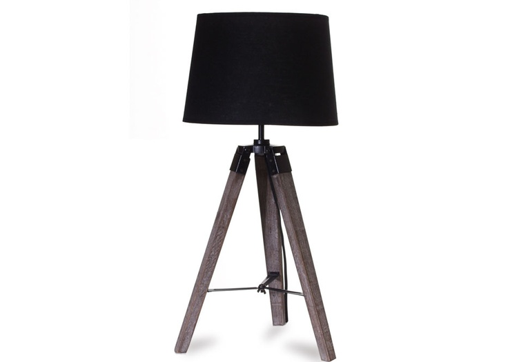 Rustic, industrial, chic...it doesn't get better than that! Old Wood Tripod Desk Lamp from Glamour & Grunge