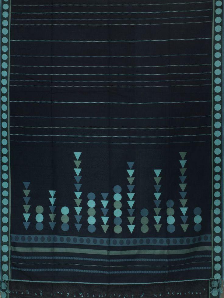 Ethicus Handwoven Organic Cotton Sari 1005775 - Sari / All Saris - Parisera