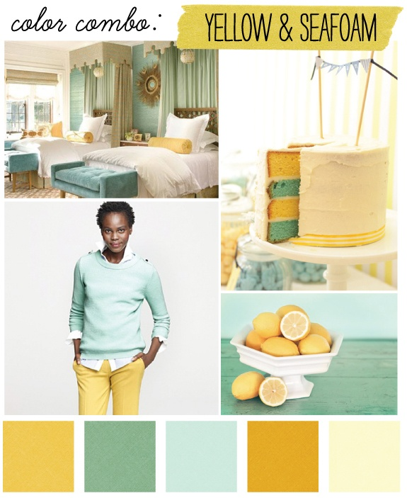Yellow color palettes.
