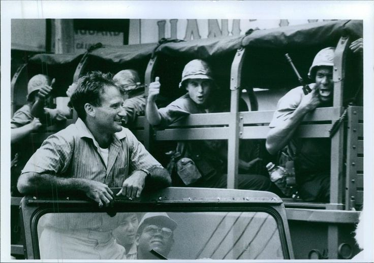 Vintage photo of Robin Williams stars as Airman Second Class Adrian Cronauer in