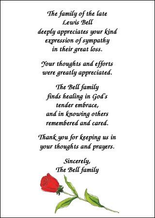 35 best Bereavement Sympathy Cards images on Pinterest - funeral thank you note