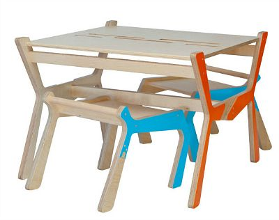 Cool eco-friendly kids' activity table and chairs set | Tot Republic