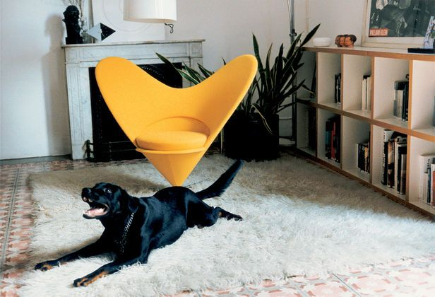 The Heart Cone Chair has got a heart for dogs.