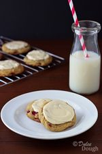 Rhubarb Cookies with Cream Cheese Frosting | Dulce Dough Recipes