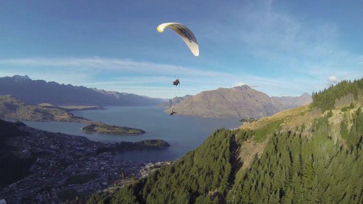 Highest Aerial Hoop routine below a paraglider - Video