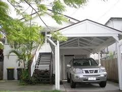 stairs and carport