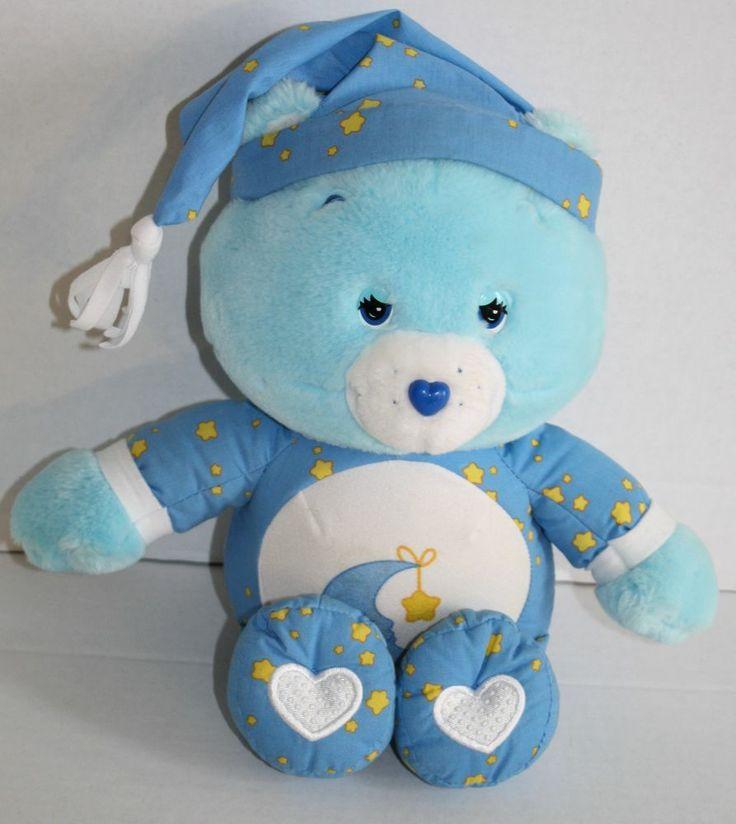 Care Bears Talking Bedtime Bear blue Musical Lullaby 2002 ...