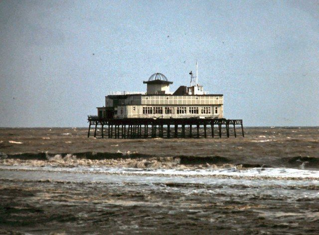 The remains of Skegness pier 1979