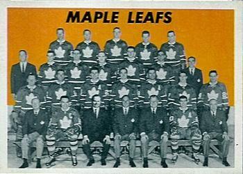 1965-66 Topps 123 Toronto Maple Leafs Hockey Card