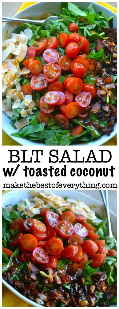 Toasted Coconut adds amazing flavor to this BLT salad!