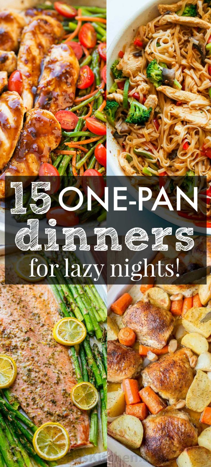 The Best One Pan Recipes to get you excited about dinner! These low stress one-dish, one-pan, one-pot recipes are creative and delicious with easy cleanup!