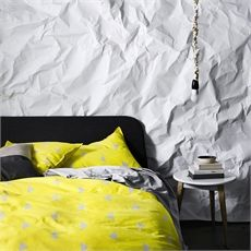Duvet Cover Yellow Triangle Queen-home-crave