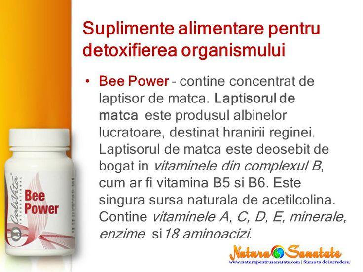 #BeePower - laptisor de #matca. Suplimente alimentare #naturiste eficiente in cura de #detoxifiere. #calivita