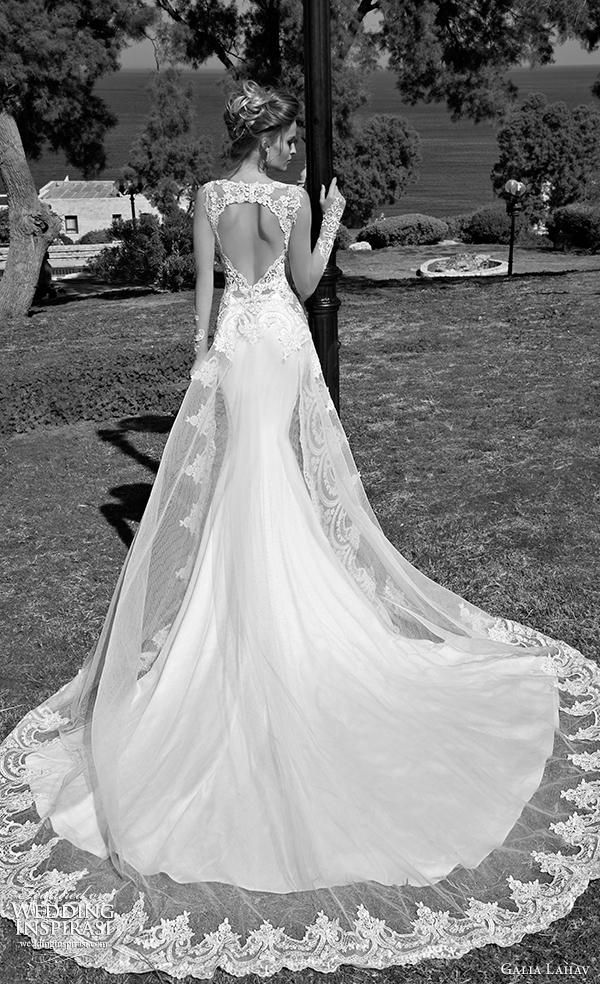 Wholesale 2014 Jewelry - Buy Galia Lahav Mermaid Wedding Dresses V-Neck Satin Lace Bridal Gowns Appliques Beads Chapel Train Backless 2015 Spring Custom Made Free Ship, $120.42 | DHgate