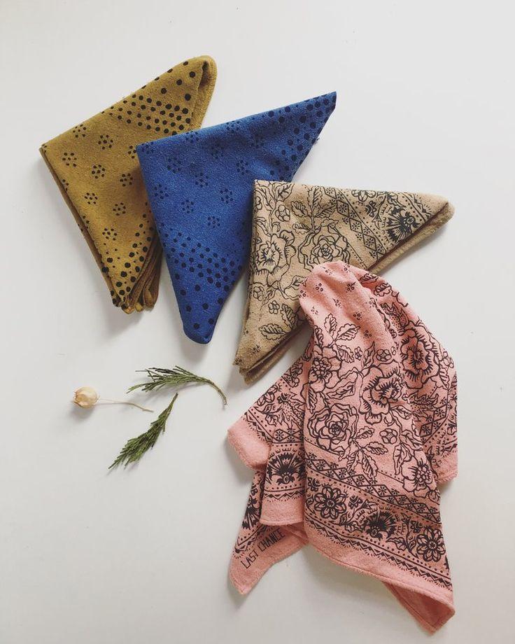 Last Chance Textiles - Raw Silk Bandana $45