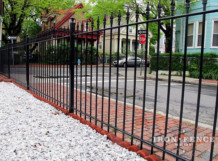 22 best sidewalk designs images on pinterest for Brick and wrought iron fence designs