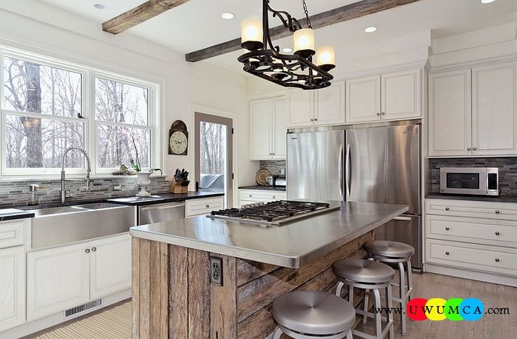 Kitchen:How To Clean Stainless Steel Kitchen Appliances Sinks Utensils Best Countertops Island Carts Table Chairs Dining Room Worktops Stainless Steel Surfaces In A Rustic Style Kitchen How to Clean Stainless Steel for a Sparkling Kitchen Appliances and Sinks then Utensils