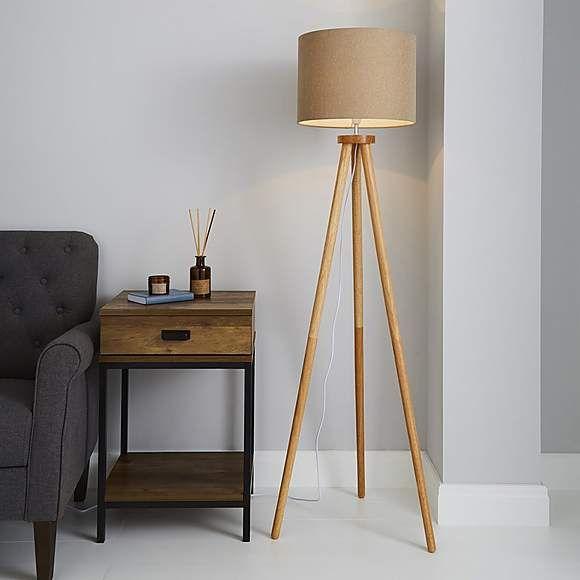 Jandia Wooden Tripod Floor Lamp Wooden Tripod Floor Lamp