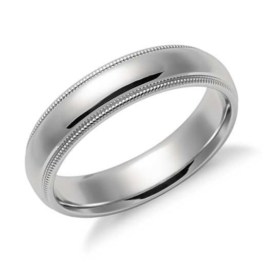 Milgrain Comfort Fit Wedding Ring In Platinum 2 5mm: No Grey Skies Here Images On Pinterest