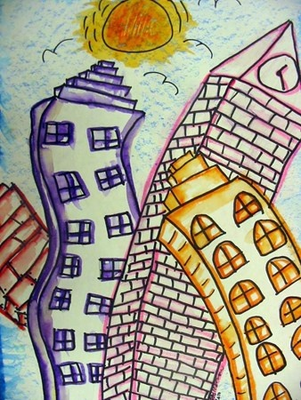 WOW city/Artsonia lesson