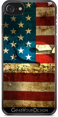 #GrabYourDesign - #Case for #Iphone 7/7S #USA / #Grunged #Flag... - by #pASob http://www.grabyourdesign.com/product.php?product=18001