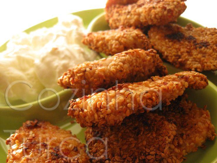 Cozinha Turca: Bifes de Frango com Sésamo (Susamlı Tavuk)