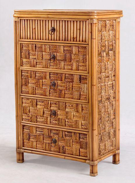 B635 Tahiti Wicker Bedroom Suite By Seawinds Trading   B63536 Six Drawer  Dresser,B63532 2