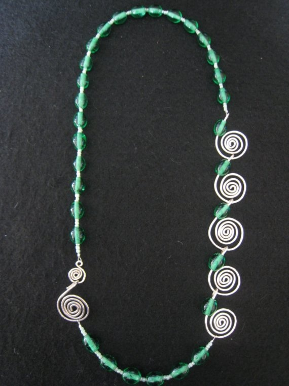 Sterling Silver & glass beads