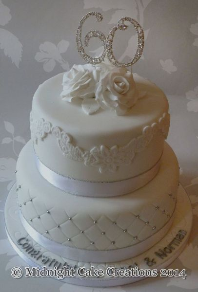 42 best 60 th Wedding Anniversary Cakes images on Pinterest