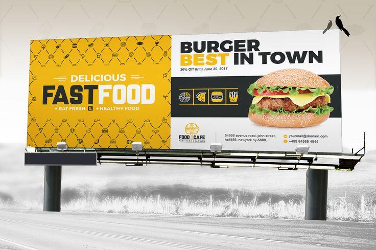 Digital Signage For Fast Food Agency Billboard Rollup Banner Location Board Promotional Counter Shop Sign Bundle